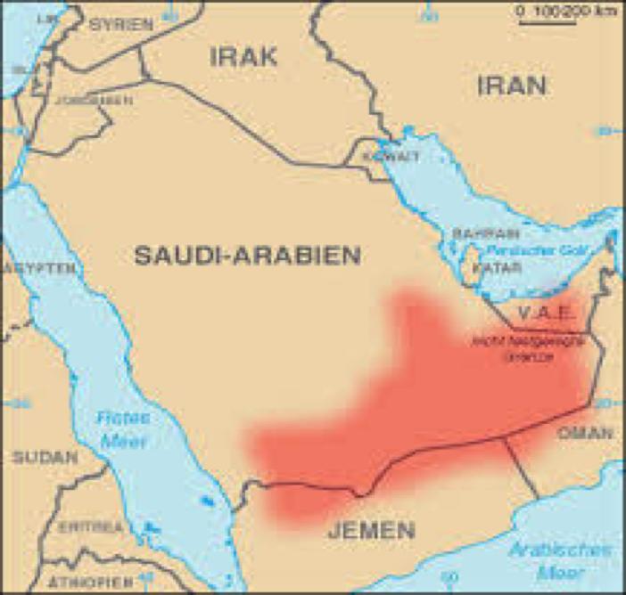 world map rub al khali desert Rub Al Khali الربع Clean Rivers Trust